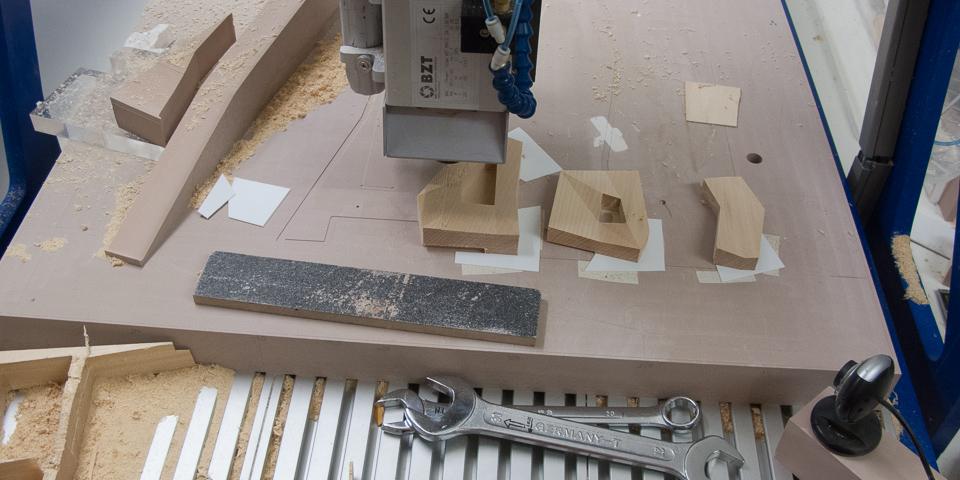 Modellbauwerkstatt Maschinenraum CNC Maschine